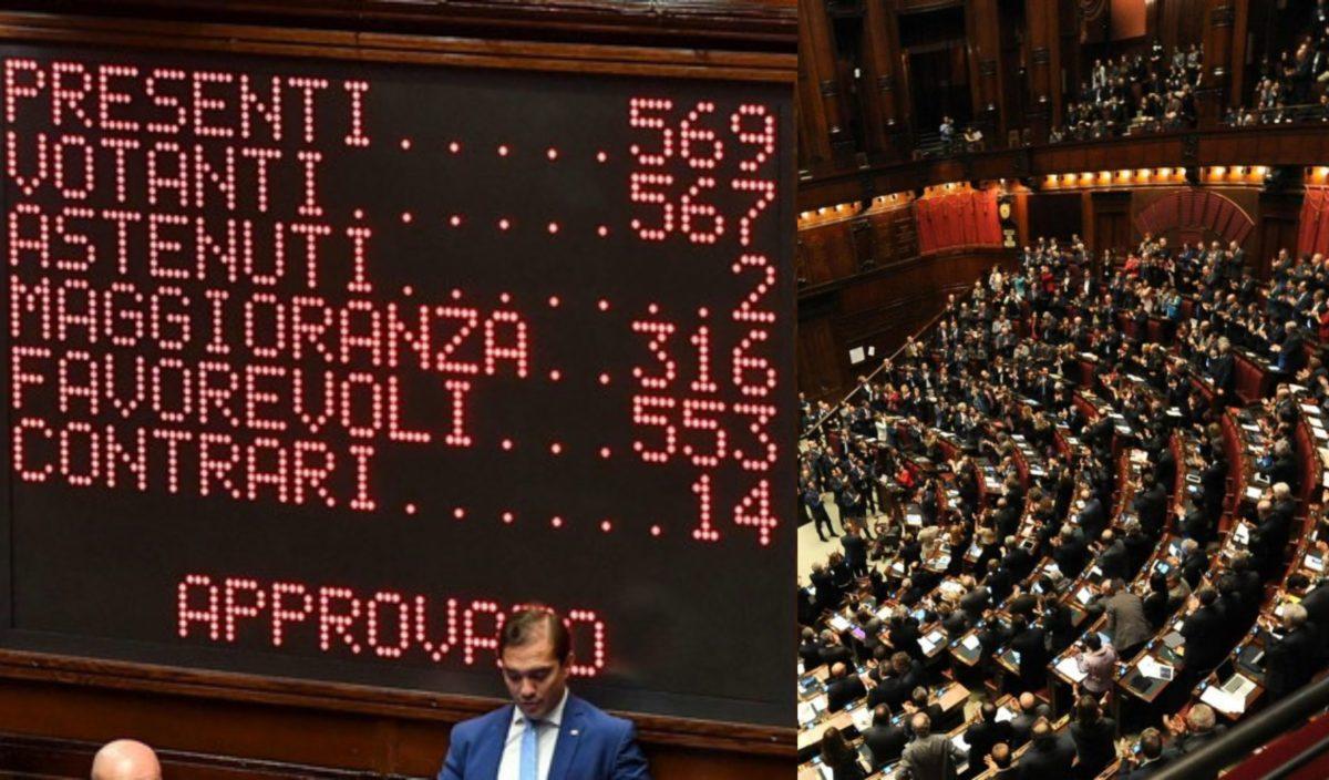 Con 553 voti favorevoli il taglio dei parlamentari for Deputati camera numero